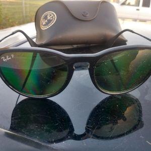Rayban sunglasses with polarized green lenses